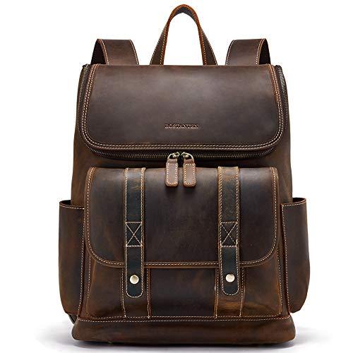 83fcd75c55d70 BOSTANTEN Herren Lederrucksack aus echtem Büffel-Leder 15 16 Zoll  Laptoprucksack Damen Daypacks Vintage