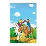 Spreadshirt Bibi und Tina Geben Sich High Five Poster 60x90 cm, Weiß