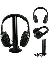 Malloom 1 Set 5 IN 1 inalámbrico auriculares casco Audio Sans Fil Ecouteur Hi-Fi Radio FM TV MP3 MP4