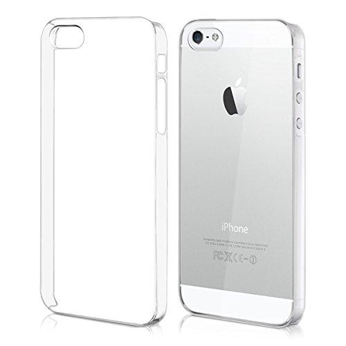 kwmobile Superbe étui rigide transparent ultra-fin très chic pour Apple iPhone SE / 5 / 5S en transparent - Parachève le design de votre Apple iPhone SE / 5 / 5S