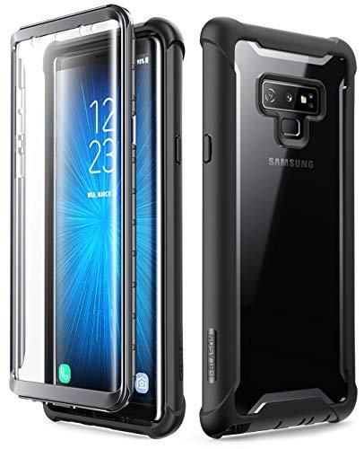 i-Blason Samsung Galaxy Note 9 Hülle 360 Grad Handyhülle Bumper Case Robust Schutzhülle Transparent Cover mit integriertem Displayschutz [Ares] für Samsung Galaxy Note 9 2018 (Schwarz)