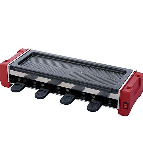 G&Z Hogar eléctrico parrilla barbacoa sin humo no Stick barbacoa ajustable temperatura 900W incluye 8 ollas antiadherentes