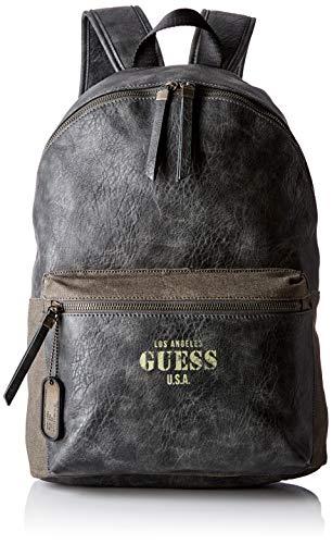 Guess Herren Aviator Backpack Rucksack, Grau (Asphalt), 32x42x12 centimeters