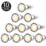 LED Einbaustrahler - CroLED 10 LED Einbauleuchte 0.6W Deckenspots IP 67 Bodeneinbaustrahler φ32mm...