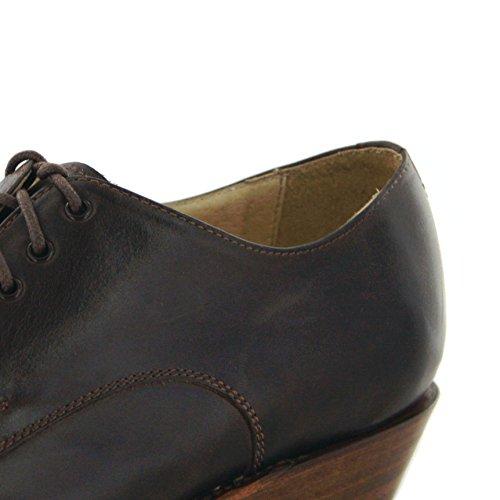 Sendra Boots 5717 Bikerschnürschuh Schnürer (in 2 Farben) 064 Brass