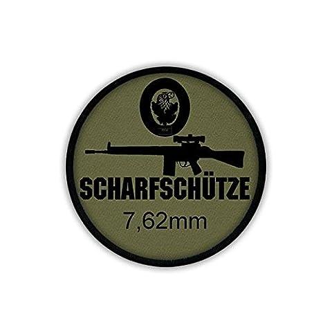 Patch / Aufnäher - 7,62mm Scharfschütze G3 Zielfernrohr Gewehr Bundeswehr Waffe Sturmgewehr Standardgewehr AGA Fallschirmjäger Uniform #19558