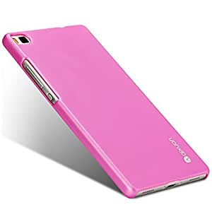 Huawei P8 Lite Case, Baby Skin/ Frosted Hard Back Cover Skin, Metal Luster Plastic Protective Shell, Slim & Ultra Thin [Pack of Screen Protector Film] [Retail Packaging] (Sopin Pink)