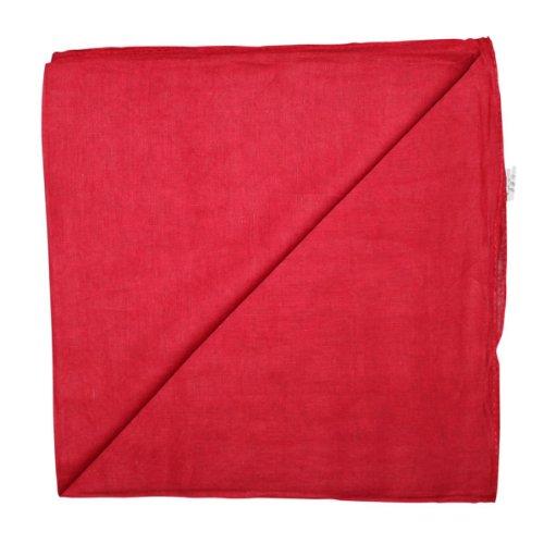 Superfreak® Baumwolltuch°Tuch°Schal°100x100 cm°100% Baumwolle, Farbe rot