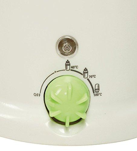 Chauffe biberon 80W Blanc 3en 1qui permet de sterilizzare et réchauffer Biberon de toutes les dimensions et de préparer jus frais.