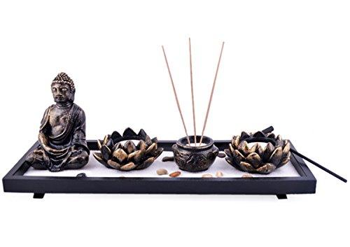 Feng Shui da giardino Buddha Sabbia Rocce Lotus incenso bruciatore braccialetto rosso Mxsabrina SKU: H1023