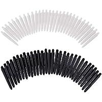 MagiDeal 60Pcs 35mm 2BA Thread Stems Shafts Soft Tip Darts White & Black