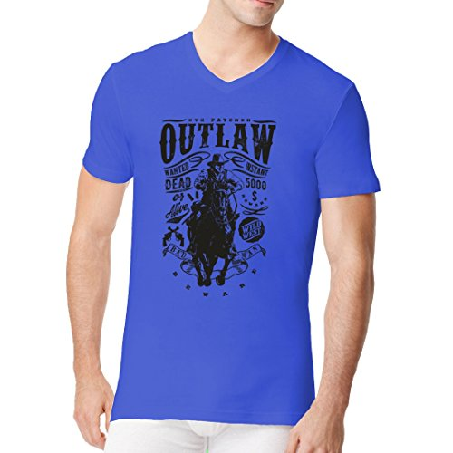 Im-Shirt - Outlaw Cowboy cooles Fun Men V-Neck - verschiedene Farben Royal
