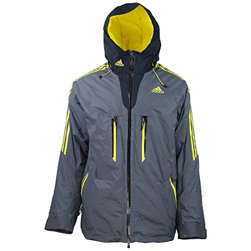 Adidas Herren Winter Ski Coach Jacket Winterjacke Skijacke Performance grau