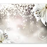 murando - Fototapete Blumen 350x256 cm - Vlies Tapete - Moderne Wanddeko - Design Tapete - Wandtapete - Wand Dekoration - Lilien Abstrakt Ornament Bokeh b-A-0012-a-b