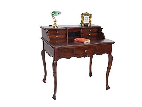 Antike Fundgrube Schreibtisch Damenschreibtisch Büromöbel im Rokoko Stil Massivholz (2324)