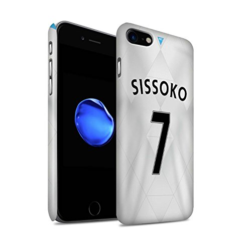 Offiziell Newcastle United FC Hülle / Matte Snap-On Case für Apple iPhone 7 / Taylor Muster / NUFC Trikot Away 15/16 Kollektion Sissoko