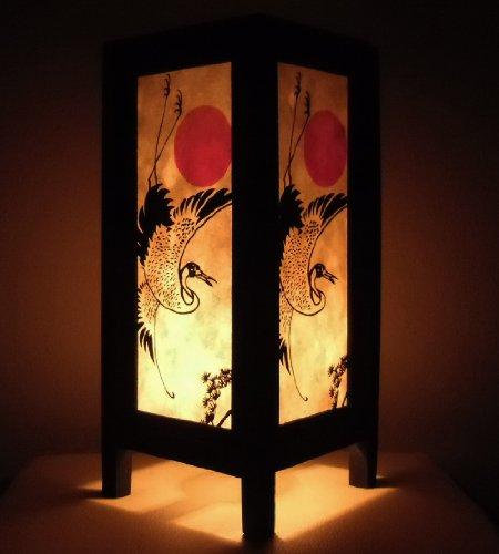 rare-asien-thai-buddha-style-nachttisch-tisch-japanischer-vogel-sonnenuntergang-kran-in-thailand