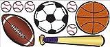 Borders Unlimited Jumbo Sticker Sportwelt für das Kinder und Jugendzimmer
