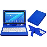 ACM USB Keyboard Case For Lenovo Tab4 10 Tablet Cover Stand With Free Micro USB OTG - Blue