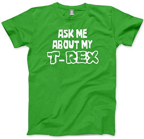 Premio About My HotScamp Ask Me T-Rex per bambini T-Shirt - Maglietta forma di Flip verde T-Shirt