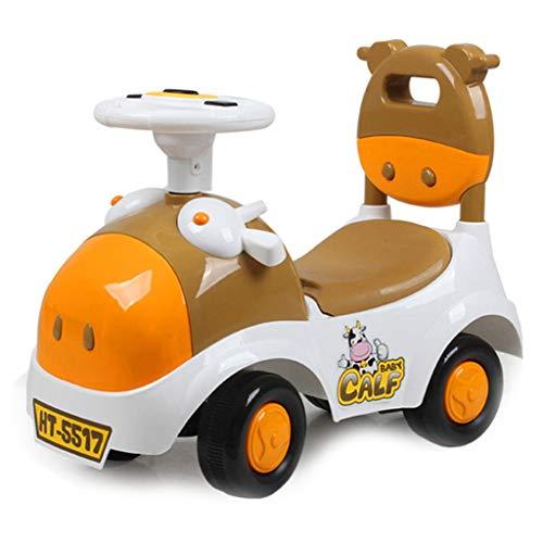 GXY Kleinkind Kind Auto 1-3 Jahre Alt Yo-yo Kind vierrädrigen Spielzeugauto Baby Roller Kuh Push Cart Meng Bao Alter Geschenk Last 45 KG (Color : PINK, Size : 55 * 26 * 45CM) (Kuh-auto-sitz)