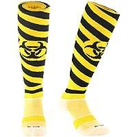 Samson bas ® Jaune/noir-radiations FUNKY Chaussettes de FOOTBALL ballon de chaussettes pour enfant/homme et femme