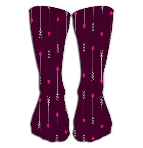 Xunulyn Hohe Socken Outdoor Sports Men Women High Socks Stocking Love Arrows Love Arrows Arrows eros Amour Cupid Modern Tile Length 19.7