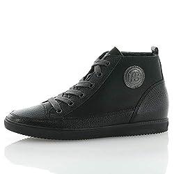 Paul Green 4561-001 Damen Sneaker aus Glatt- und Veloursleder Flexible Laufsohle, Groesse 38, schwarz