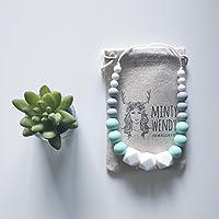 Cadeau de naissance - Collier d'allaitement de portage de dentition MintyWendy - Marie Mint