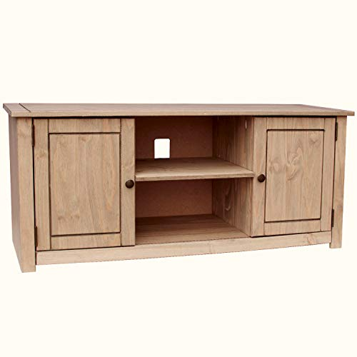 Home Discount Panama 2 Door 1 Shelf Flat Screen TV Unit, Oak