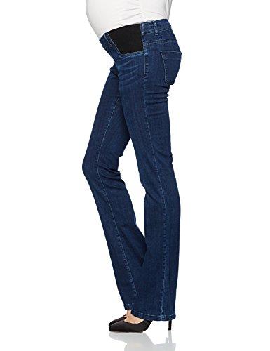 bellybutton Damen Umstandsjeans Jeans Bootcut mit Elastischen Tasch Blau (Dark 0012)