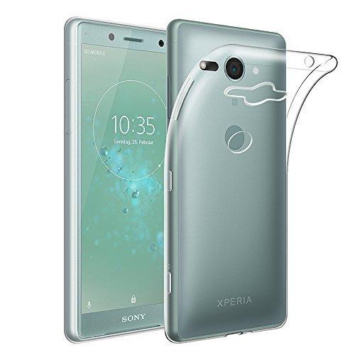 Qoosea Sony Xperia XZ2 Compact Hülle Transparent Ultra Slim Schutzhülle Crystal Clear Soft Flex Silikon Anti-Rutsch Kratzfest Handyhülle Case Cover für Sony XZ2 Compact