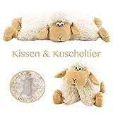 art decor 2 in 1 Kuschelkissen und Kuscheltier Schaf, Schafkissen, Kissen Schaf, Kuschelschaf mit Klettverschluss 30cm
