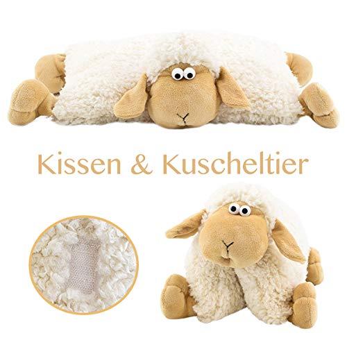 Ca 45 Cm Schaf Polly Kissen Und Schmusetier In Einem Bieco 04001319