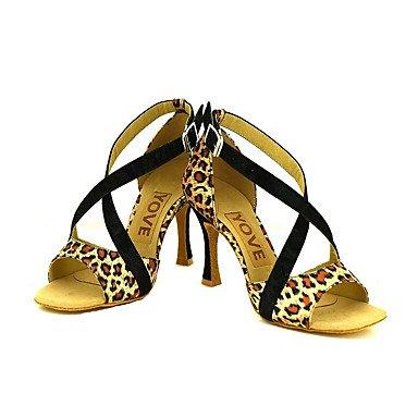 Scarpe da ballo-Personalizzabile-Da donna-Balli latino-americani / Salsa-Tacco su misura-Scamosciato-Nero / Giallo / Rosso Yellow