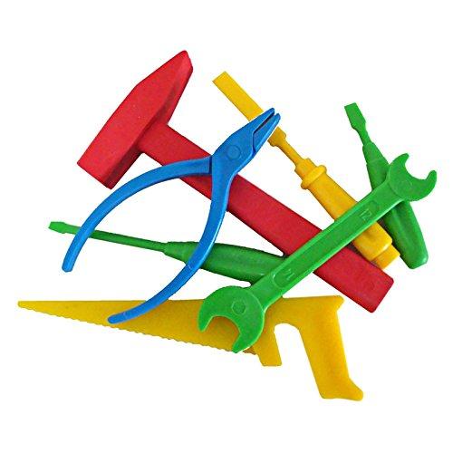 Preisvergleich Produktbild Kinder-Werkzeugset Kunststoff Der kleine Handwerksmeister 7-teilig kleine Handwerker