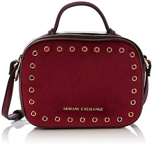 Armani Exchange Damen Small Cross Body Bag Clutch, Violett (Wine Tasting), 13.0x6.5x18.0 cm