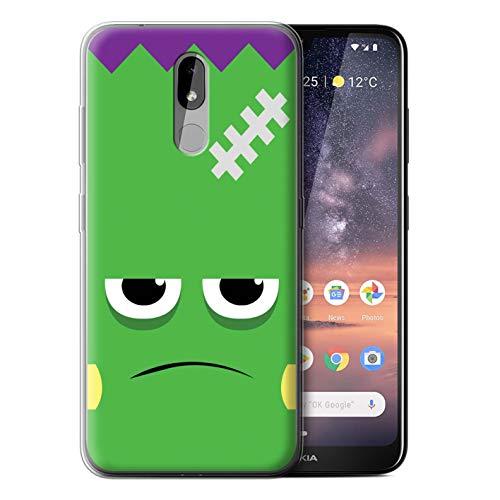 eSwish Gel TPU Hülle/Case für Nokia 3.2 2019 / Frankenstein Muster/Halloween Zeichen Kollektion (2019 Halloween Frank)