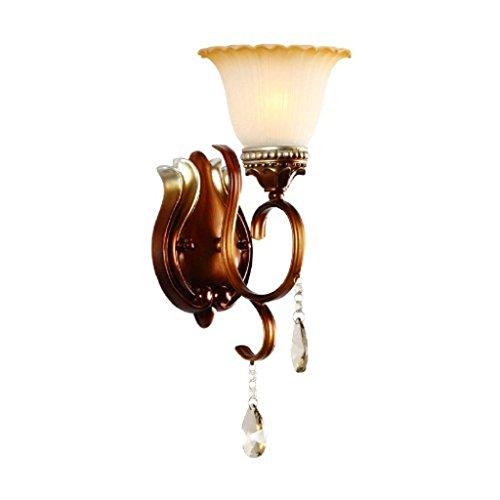 HAIZHEN Wandleuchte europäischen Kristallspiegel vorderen Leuchten kreative Nachttischlampe (Ge-licht-schalter)