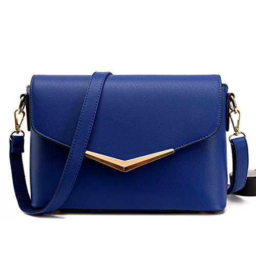 WU Zhi Estate Signora Diagonale Borsa Blue