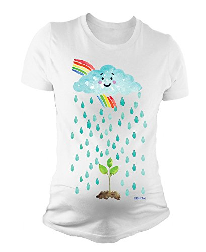 Damen Mutterschaft T-Shirt Baby Seed Rainbow Cute Schwangerschaft Geschenk By BritTot