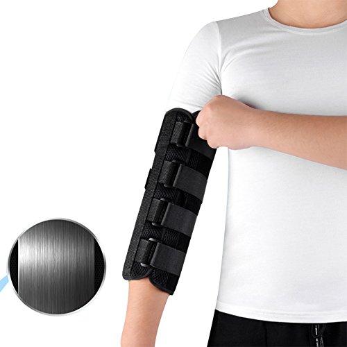 NACHEN Ellenbogen Fixation Brace Support Orthese Obere Extremitätenschiene Hemiplegia Arm Fraktur Rehabilitation Trainingsgeräte,Black,M - Black Arm-schlinge