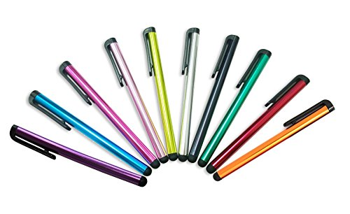 8 x Penne Capacitive Stylus Schermo Penne Tablet Cellulare tattili per iPhone 5 5S 5 C 4 4S 3 G 3 GS iPod Touch iPad 2 3 4 Aria Sony PlayStation PSP PS Vita Motorola Xoom, Samsung Galaxy, Blackberry Playbook amm0101us, Barnes and Noble Nook Color, Droid Bionic