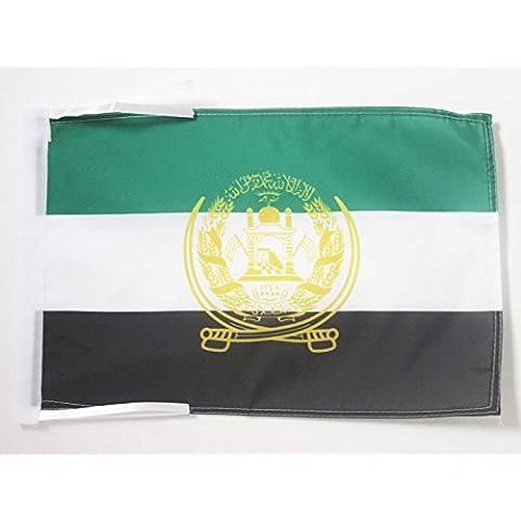 BANDIERA AFGHANISTAN ANTICA 2001-2002 45x30cm - BANDIERINA AFGANA 30 x 45 cm cordicelle - AZ FLAG