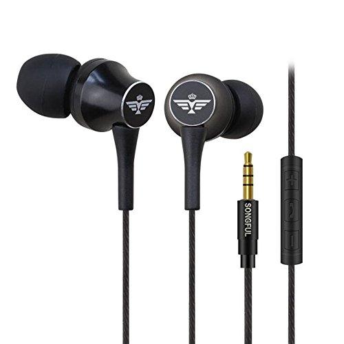 Ohr-Stecker-Typ Kabel-Headset Bass-Buchse Stereo-Metall-Headset (schwarz und (Controller Xbox Kostüm)