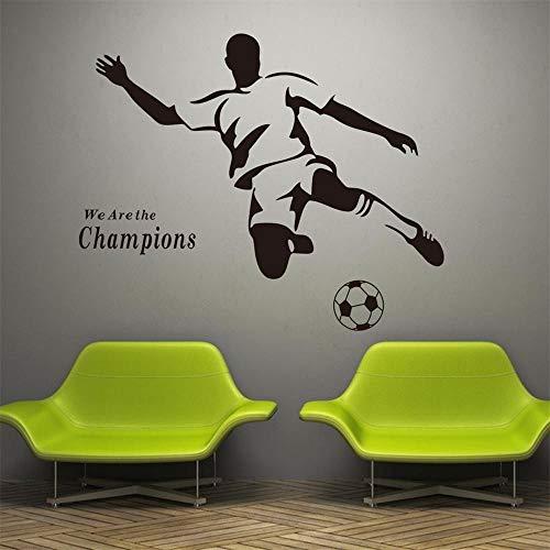 Wandtattoo Champion Sport Wandaufkleber Vinyl Schablonen Für Wände Junge Fußball Fußball Kinderzimmer Poster Dekoration 57 * 35 cm