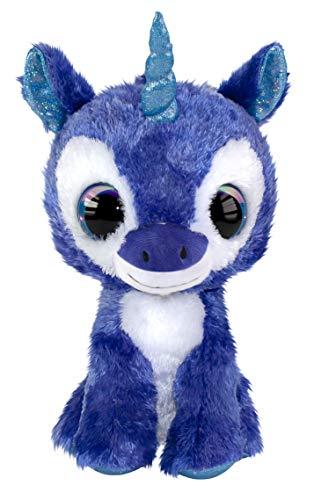 LUMO STARS Velvet Animales de Juguete Felpa Azul, Blanco - Juguetes de Peluche (Animales de Juguete, Azul, Blanco, Felpa, 3 año(s), Unicornio, Niño/niña)