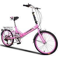 Paseo Bicicleta Universal Plegable para Mujer Ruedas de 20 Pulgadas y 20 Pulgadas Bicicleta Plegable compacta