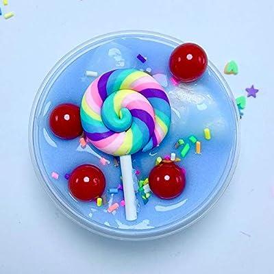 AimdonR DIY Fluffy Foam Lollipop Nuage Parfum Soulagement Boue Coton Boue Plastique Jouet Enfant