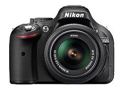 Nikon D5200 24.1MP Digital SLR Camera (Black) with AF-S 18-55 mm VR II Kit Lens, 8GB Card, Camera Bag